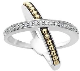 Lagos KSL Diamond Pave Crossover Ring