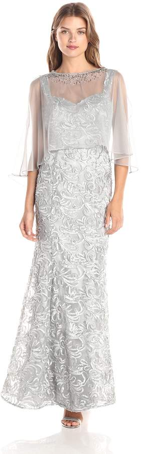 Ignite Women's Sheer Cover Soutache Dress