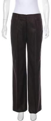 Oscar de la Renta Cashmere Mid-Rise Pants