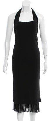 Jean Paul Gaultier Ruffle-Trimmed Halter Dress $150 thestylecure.com