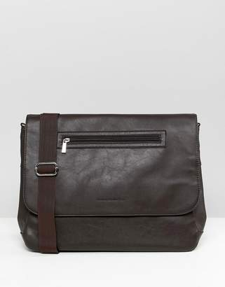 French Connection Faux Leather Messenger Bag