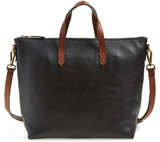 Madewell Leather Transport Satchel - Black $188 thestylecure.com