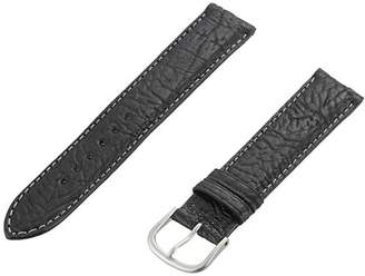 Momentum ZC-18TUS BLACK 18mm Tuscany Leather Calfskin Black Watch Strap