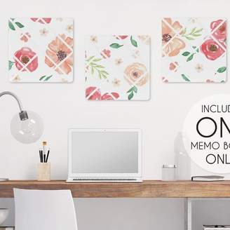 JoJo Designs Sweet Watercolor Floral Bulletin & Memo Board