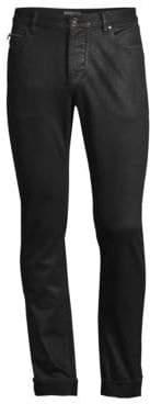 John Varvatos Men's Chelsea Coated Slim-Fit Jeans - Black - Size 30 R