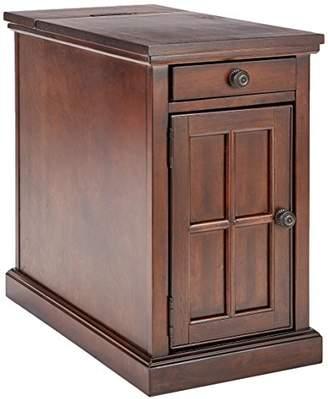 Signature Design by Ashley Ashley Furniture Signature Design - Laflorn Chair Side End Table - Rectangular - Dark Brown