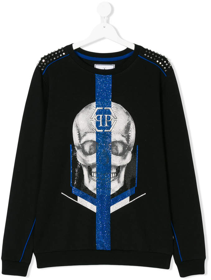 Philipp Plein Junior Teen skull print sweatshirt