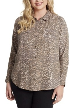 Jessica Simpson Junior Petunia Twill Button Up Shirt