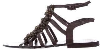 Antik Batik Leather Embellished Sandals