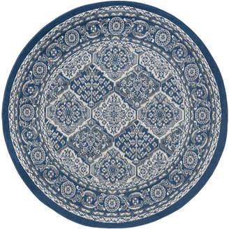 TAYSE Tayse Oxnard Traditional Oriental Round Area Rug