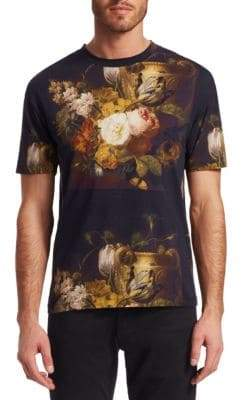 McQ Dropped Shoulder Floral T-Shirt