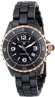 Swiss Legend Women's 10049-BKBRA Karamica Analog Display Swiss Quartz Watch