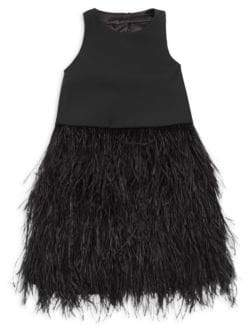 Milly Minis Girl's Blaire Feather Dress
