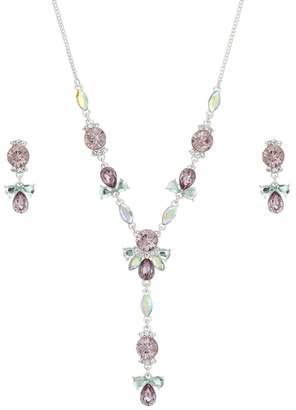 at Debenhams Butterfly - Matthew Williamson Butterfly by Matthew Williamson  - Pink Crystal Y Necklace Jewellery Set