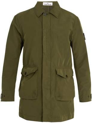 Stone Island Four-pocket point-collar jacket