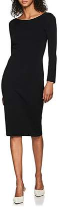 The Row Women's Darta Compact-Knit Crepe Fitted Dress - Black