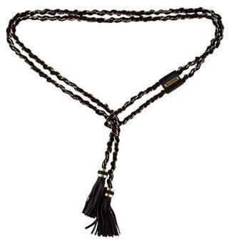 Max Mara Chain-Link Tassel Belt