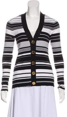 MICHAEL Michael Kors Casual Striped Cardigan