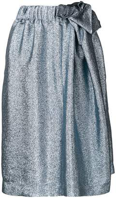 Stella McCartney metallic midi skirt