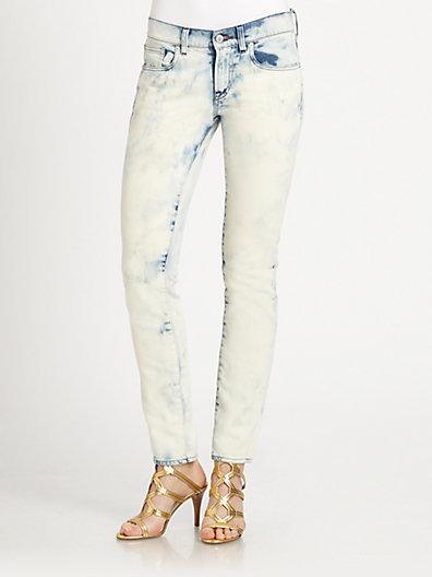 Ralph Lauren Black Label Tie-Dye Cropped Matchstick Jeans