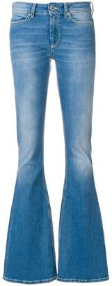 Dondup washed flared jeans