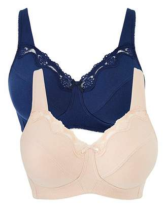 fc1a164240458 Naturally Close 2Pack Sarah Non Wired Navy Blush Bras