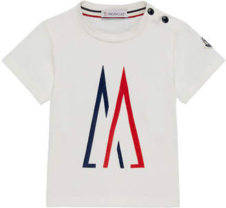 Moncler Logo Graphic Short-Sleeve Tee, Size 12M-3