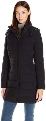 Calvin Klein Women's Stretch Mid-Length Down Puffer Coat