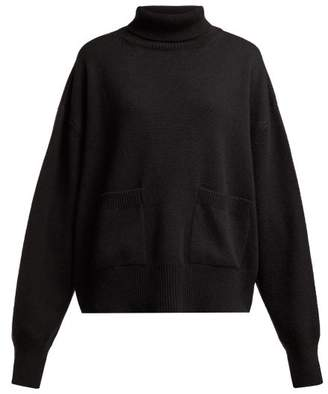 Raey Pocket Front Roll Neck Cashmere Sweater - Womens - Black