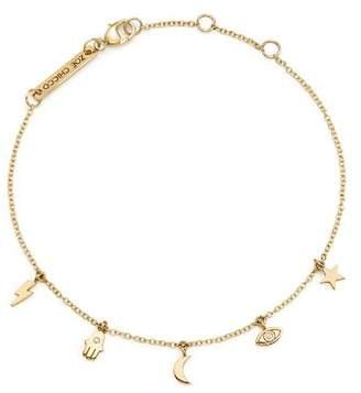 Chicco Zoë 14K Yellow Gold Itty Bitty Celestial Charms Bracelet with Diamonds