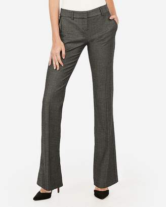 Express Low Rise Straight Flare Textured Columnist Pant