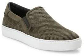 To Boot Stewart Suede& Leather Perforated Slip-On Sneakers
