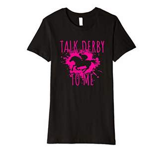 Jockey Womens Talk Derby To Me T-Shirt - Horse Racing Rider Gift