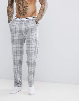 Asos DESIGN Pajamas In Gray Check