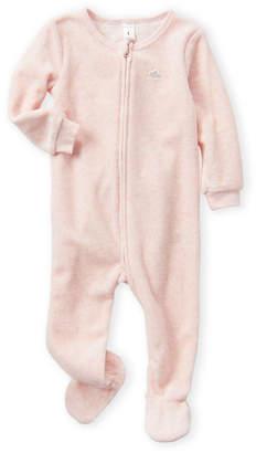 Petit Lem Newborn Girls) Pink Cloud & Moon Footie