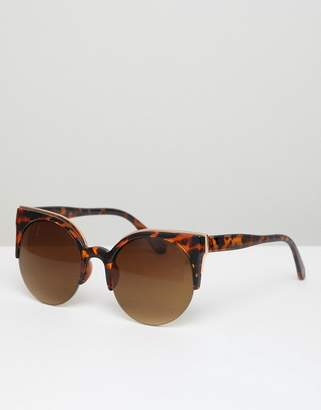 Jeepers Peepers Cat Eye Tort Frame Sunglasses