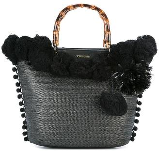 Twin-Set pompom tote $157.84 thestylecure.com