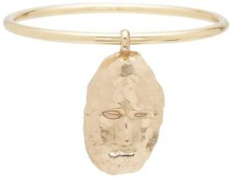 Ellery Hammered Face Motif Bangle - Womens - Gold