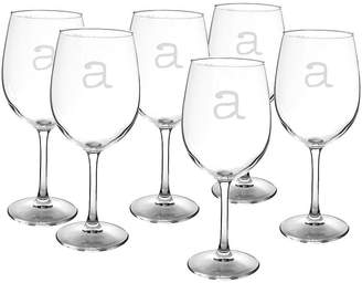 Cathy's Concepts CATHYS CONCEPTS Set of 6 Personalized White Wine Glasses