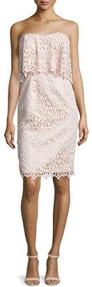Black Halo Strapless Popover Lace Cocktail Dress, Ballet Pink $575 thestylecure.com