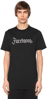 Facetasm Logo Embroidered Cotton Jersey T-Shirt