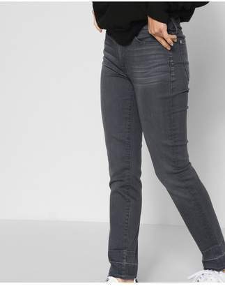 7 For All Mankind BAir Denim Roxanne Ankle With Trouser Released Hem In Smoke
