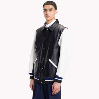 Tommy Hilfiger Pieced Leather Jacket