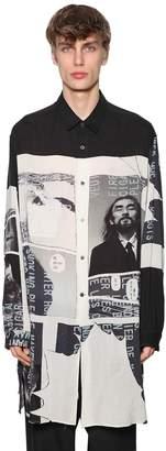 Yohji Yamamoto Printed Tencel Long Shirt