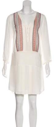 Veronica Beard Embroidered Mini Dress