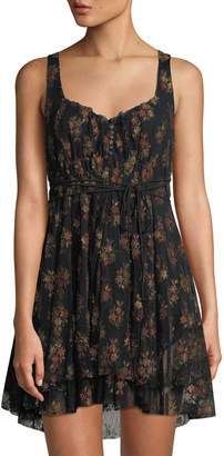 Free People Heart It Races Floral Lace Dress