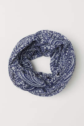 H&M Patterned Tube Scarf - Blue
