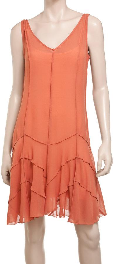 Max Studio Colorblock Pleated Dress