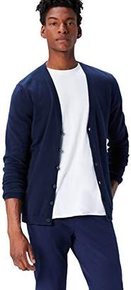 FIND Men's Cardigan in Cotton Button Down,Large