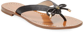Kate Spade Charles Leather Thong Bow Sandal